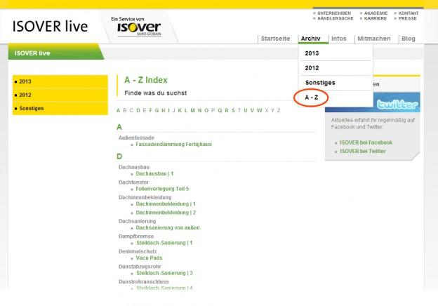 NEU: ISOVER live von A-Z